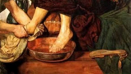 Foot Washing; Jesus washes disciples' feet; humility; love